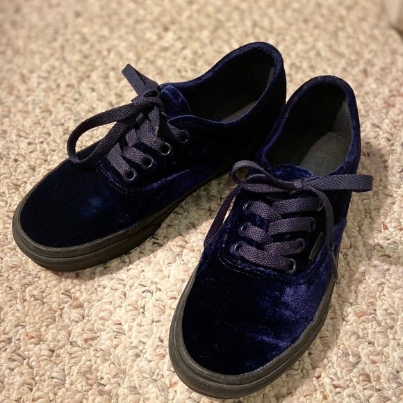 Vans Shoes   Velvet Blue   Poshmark